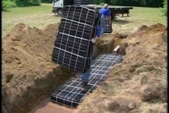 This is us at work repairing a septic system