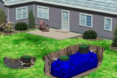 This diagram of a Yorktown residence shows exactly where the septic system is